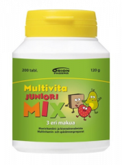 MULTIVITA JUNIORI MIX MONIVITAMIINI 200 PURUTABL