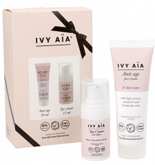 IVY AIA GIFTBOX ANTI AGE FACE CREAM + EYE CREAM 50ML+30ML