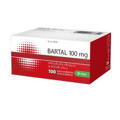 BARTAL 100 mg enterotabl 100 fol